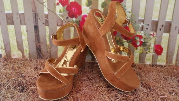 new IK sandalsepatu Sandal Wanita Wedges WG33 murah