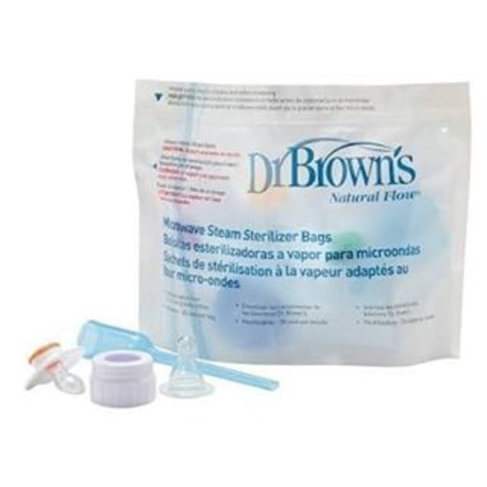 HEMAT Dr Brown Browns Microwave Steam Sterilizer Bags Plastik Traveling Bayi 873632bcb6