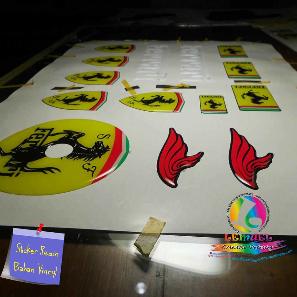 Jual custom dome epoxy sticker vinyl 3m resin eropa kota
