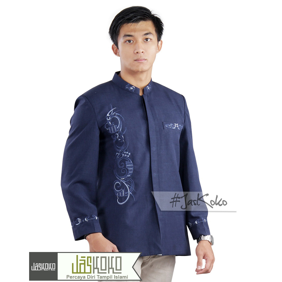 Jual Jas Formal Pria Muslim Rafah Jaskoko Baju Modern Koko 11