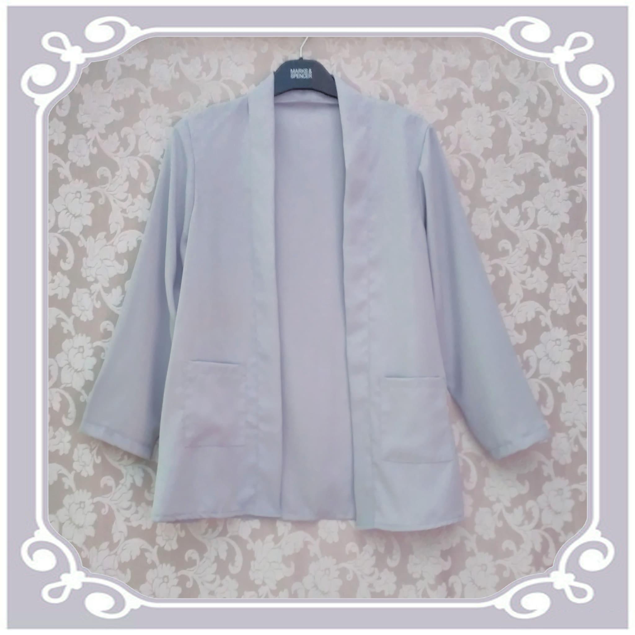 Outer lengan panjang cardigan panjang blazer baju kerja wanita blouse