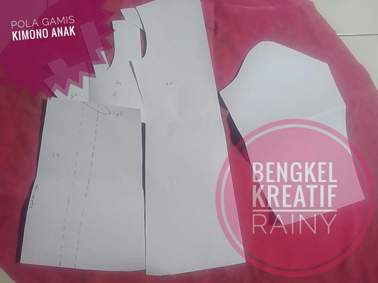Jual Pola Jahit Gamis Anak Model Hanbok Kimono 1 Bengkel Kreatif