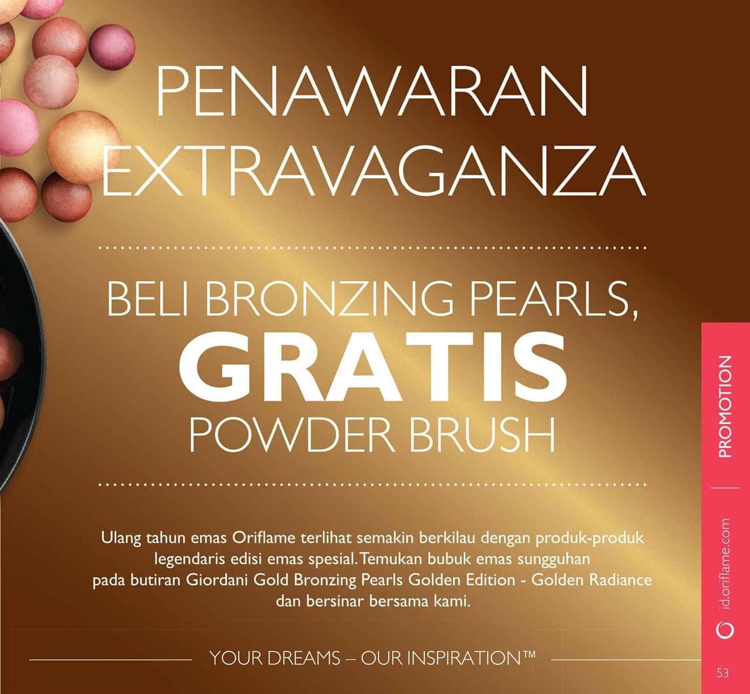 Jual Giordani Gold Bronzing Pearls Golden Edition Golden Radiance oriflame Je s Wardrobe