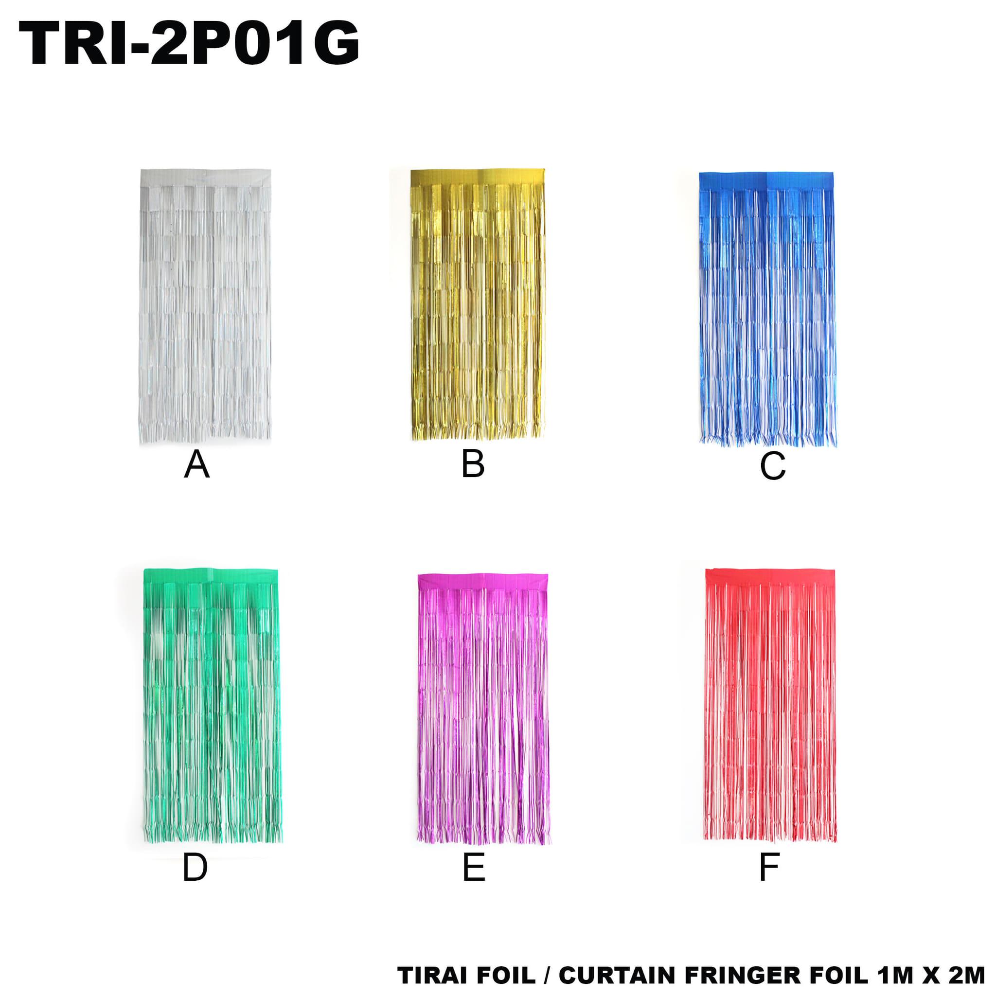 Jual Tirai Foil Curtain Fringer 1m X 2m Yoberionline Backdrop Tokopedia