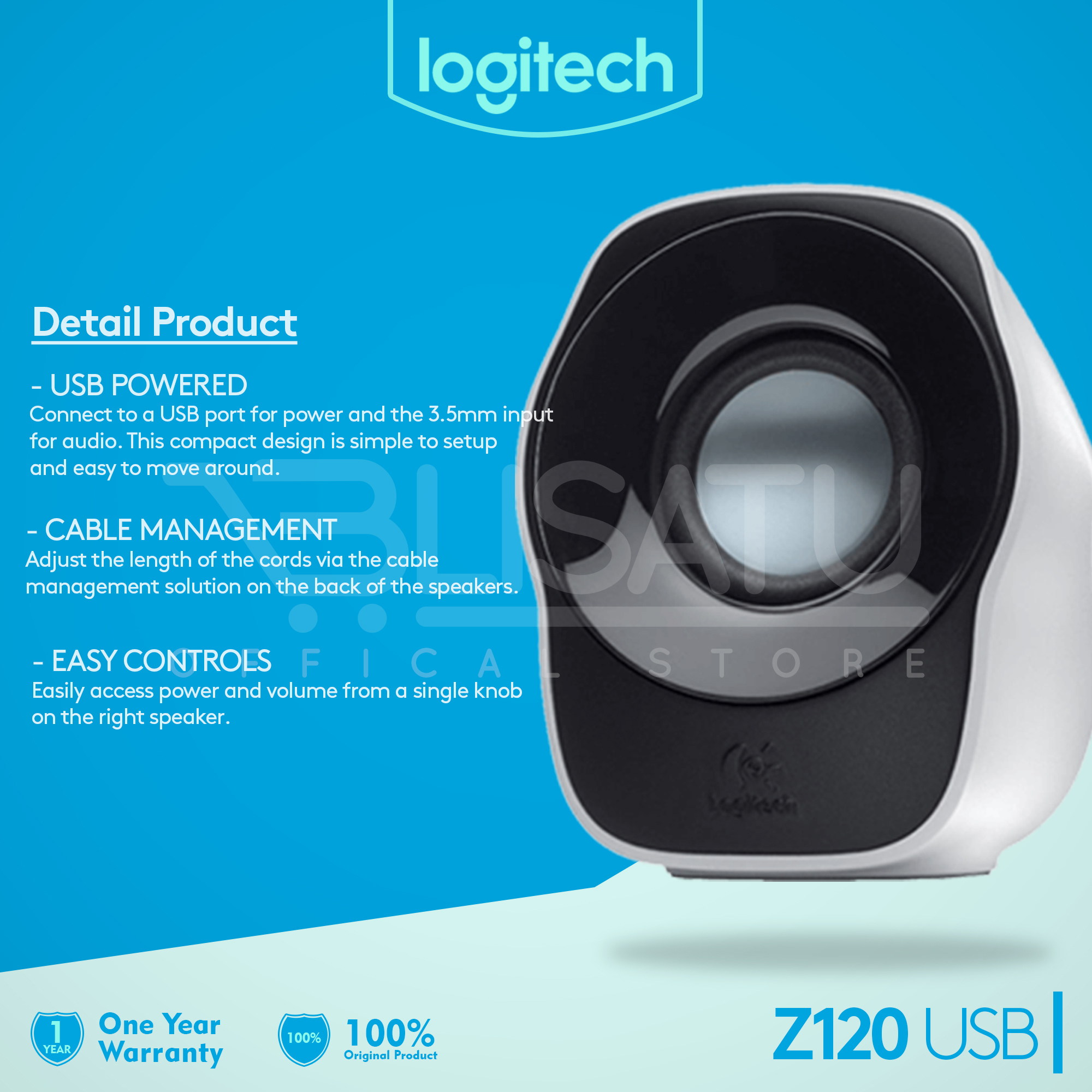 harga Logitech Z120 Stereo Speaker Putih Blanja.com
