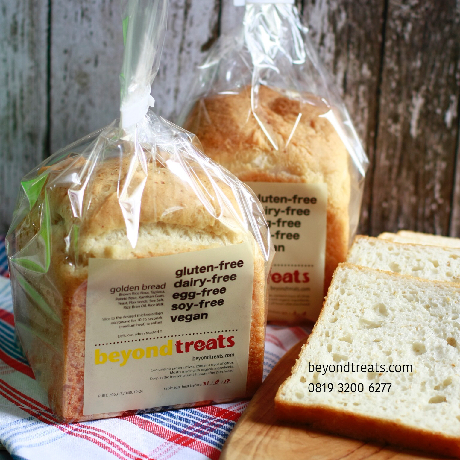 Jual Golden Bread Roti Tawar Gluten Free Vegan Gfcfef Gfcf Beyond Gandum 400 Gr Treats Tokopedia