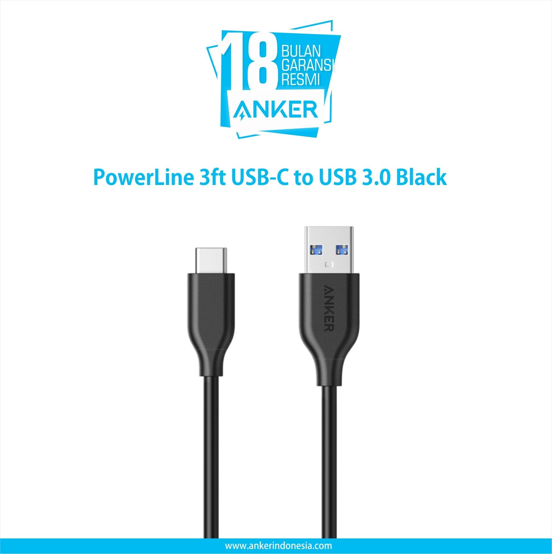 Anker Powerline 3ft Usb-C To Usb 3.0 Black A8163h11 - Blanja.com