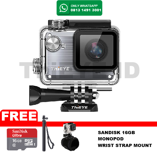 harga Action Camera Thieye I30 12mp/wifi Free Memory+tongsis+wrist Mount Blanja.com