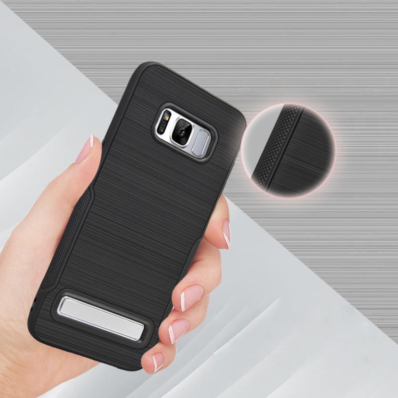 Samsung J5 Prime Luxury Brush Texture Thin Softgel Standing Case