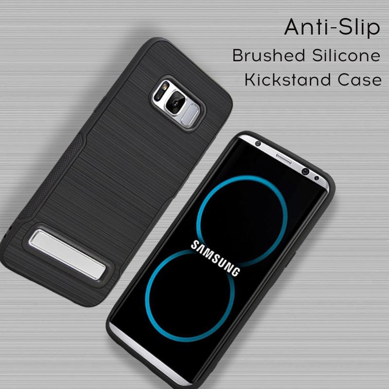 Samsung S7 Flat Luxury Brush Texture Thin Softgel Standing Case