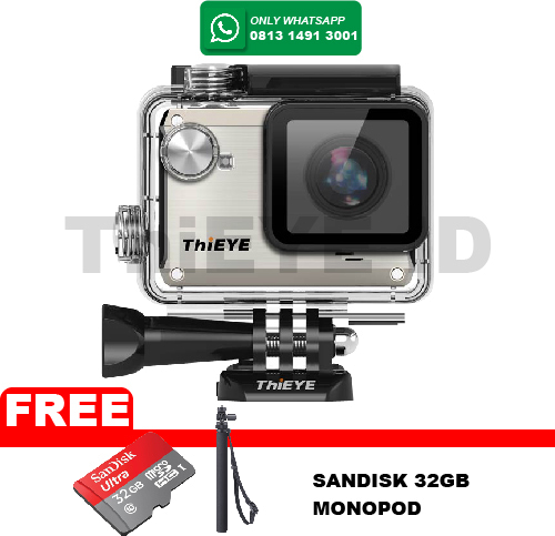 harga Actioncam Thieye I30 12mp/wifi Free Sandisk 32gb+tongsis Monopod - Silver Blanja.com