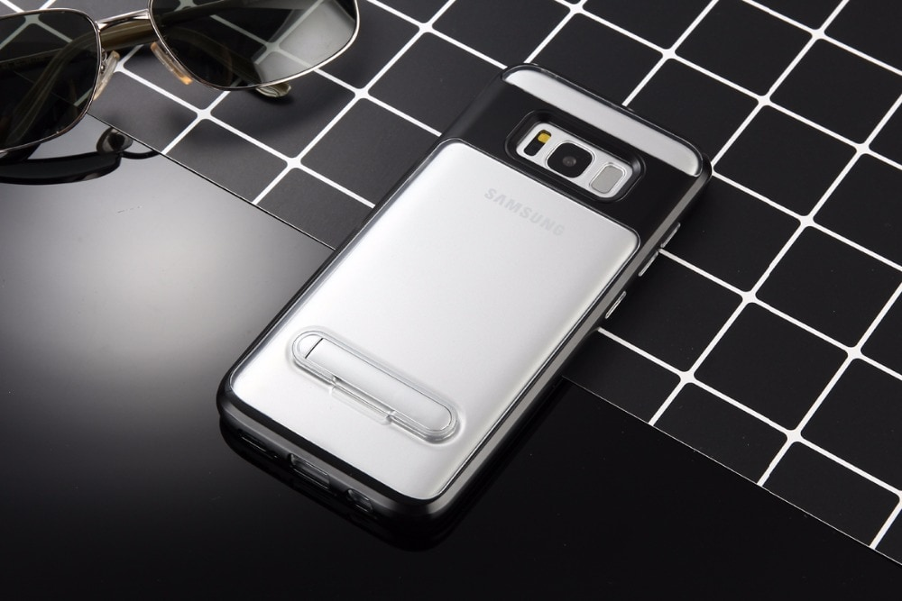 Samsung A7 2016 Elegant Clear Ultra Thin Standiing Soft Case - PC