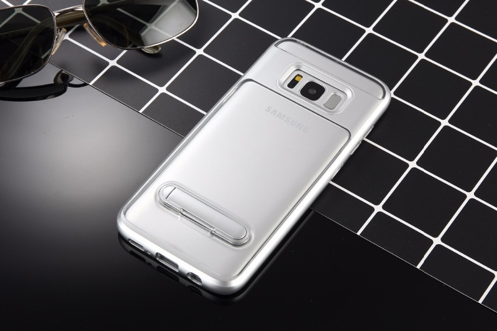 Samsung J5 Prime Elegant Clear Ultra Thin Standiing Soft Case - PC
