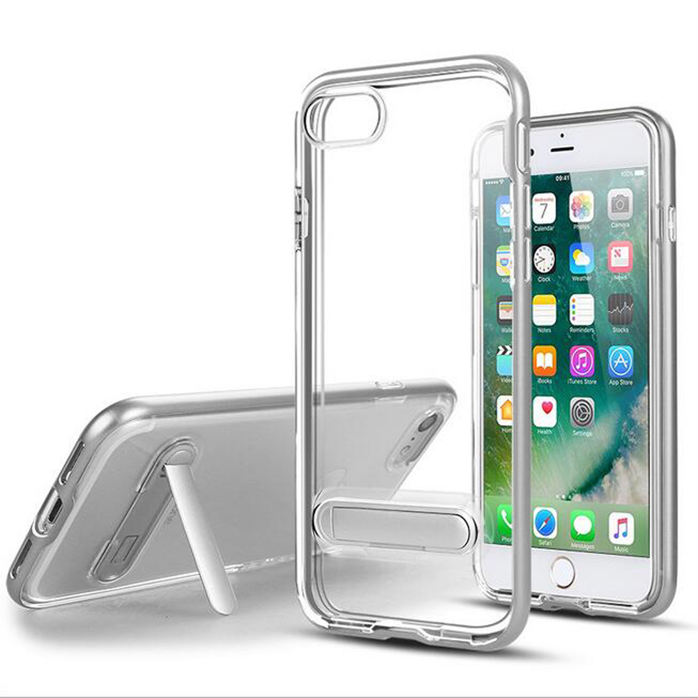 iPhone 6 6s Plus 5.5 Elegant Clear Ultra Thin Standiing Soft Case - PC