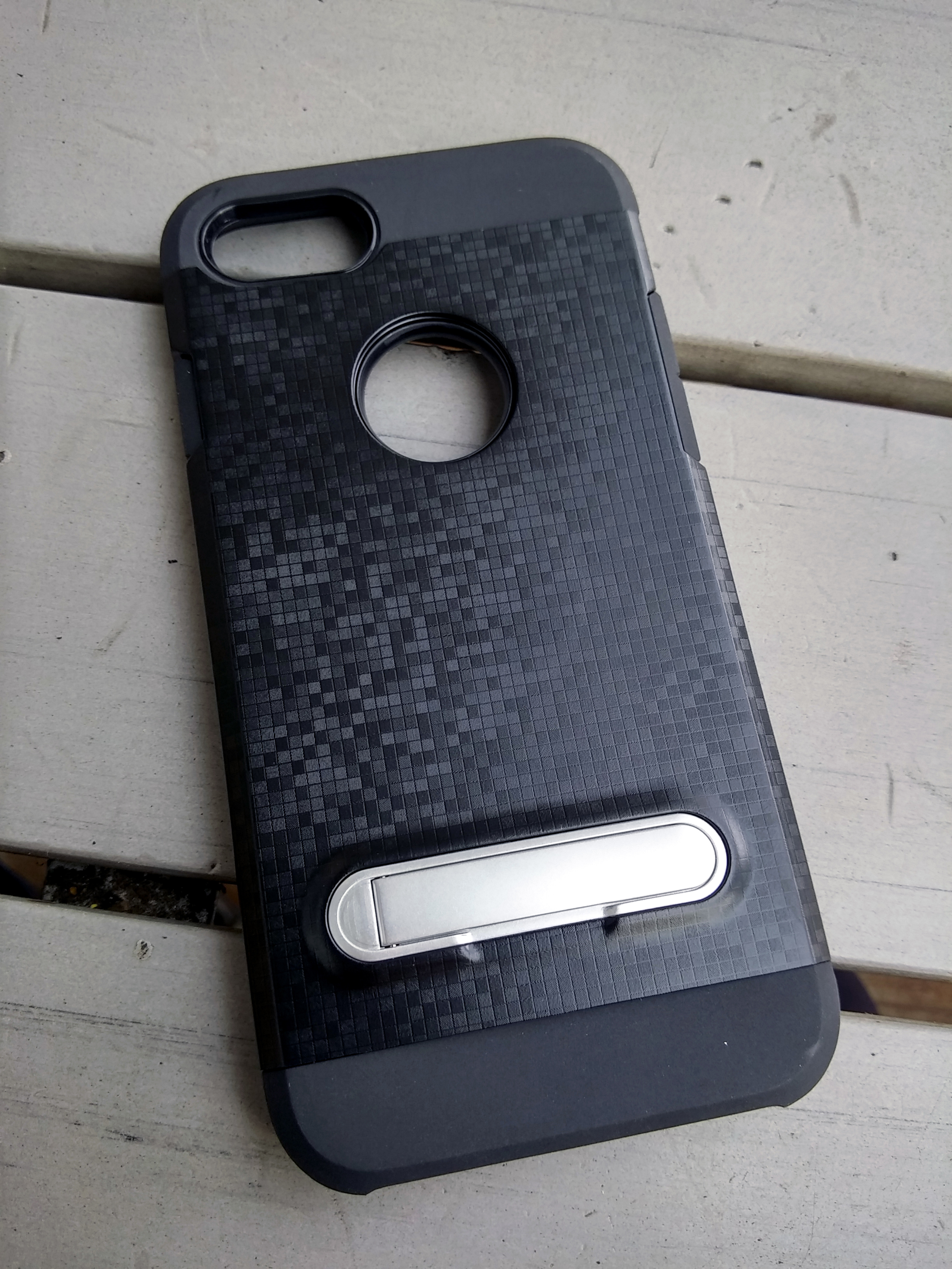 iPhone 7 7s 4.7 Unique Cube Pattern Armor Soft Case with PC Shockproof