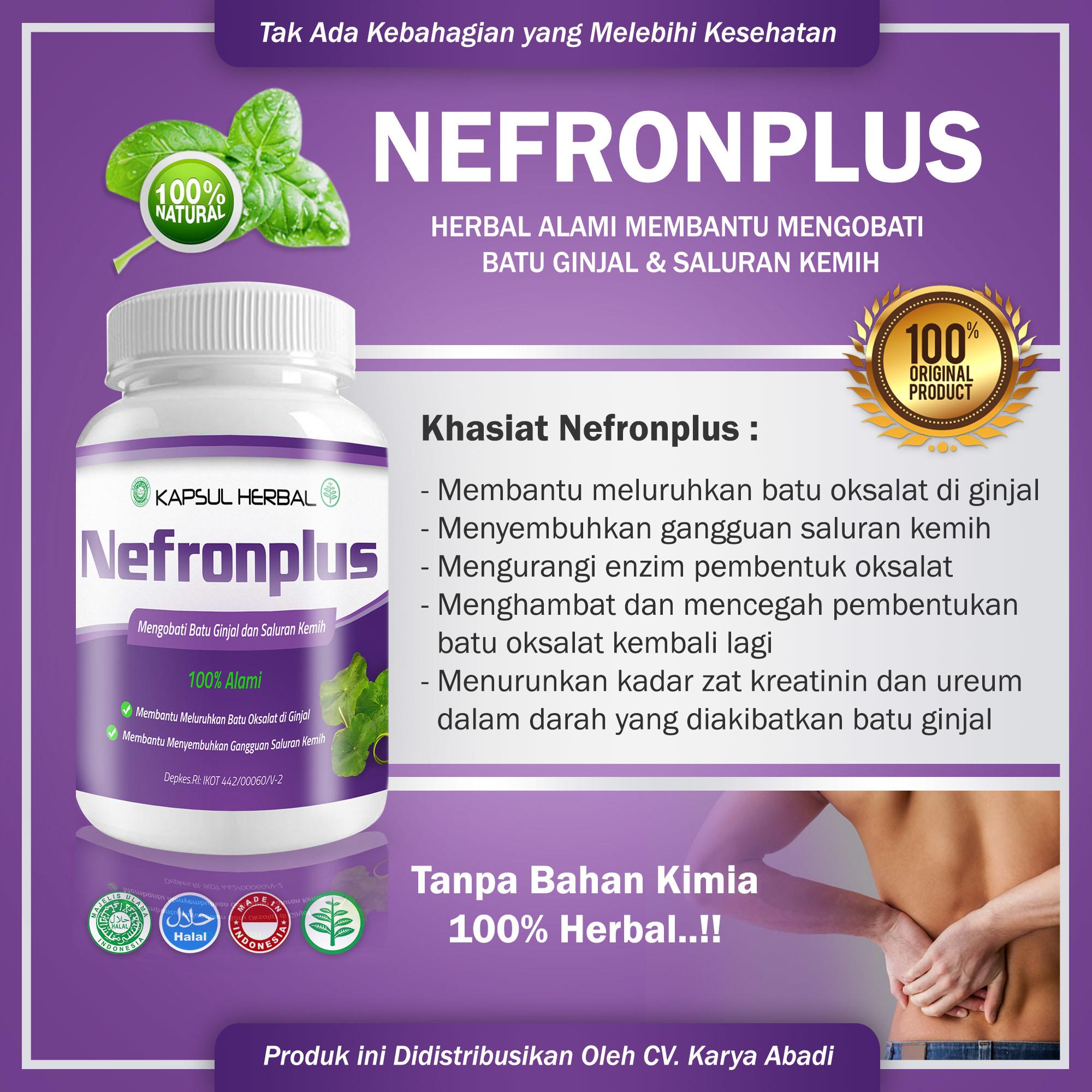 HEMAT NEFRONPLUS-Obat Herbal Batu Ginjal Dan Infeksi Saluran Kemih-Kencing