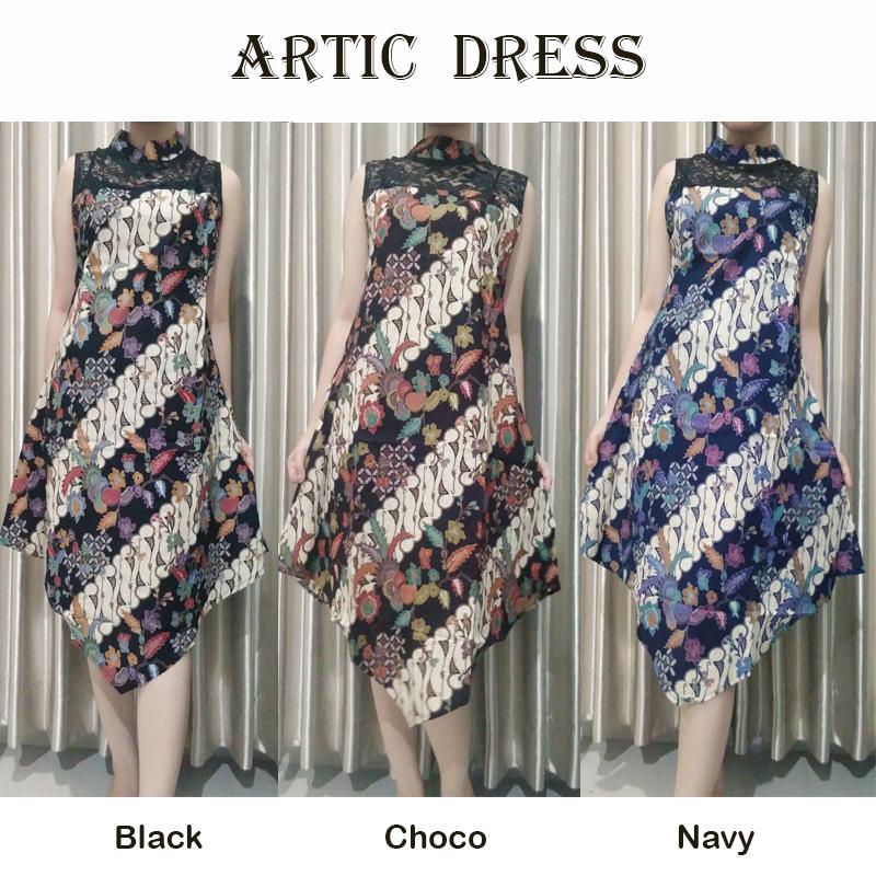 18f45e3ec Jual Artic - Dress Batik Modern Gaun Batik Baju Cheongsam Murah ...