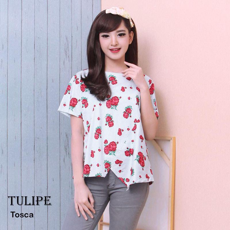 TULIPE - Atasan Batik Blouse Batik Modern Wanita Cheongsam JUMBO XXL - Blanja.com