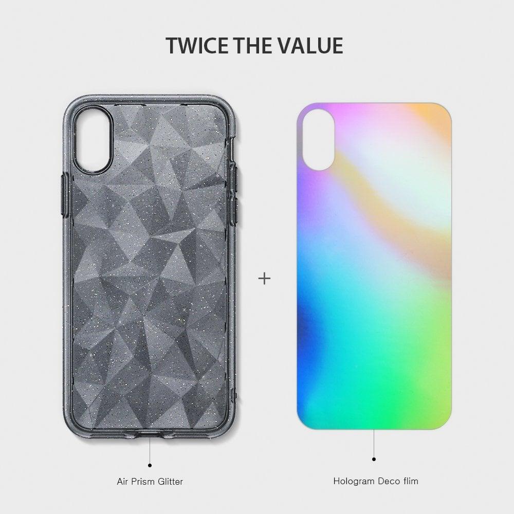 Ringke Iphone X Case Ringke Air Prism - Glitter Gray Original
