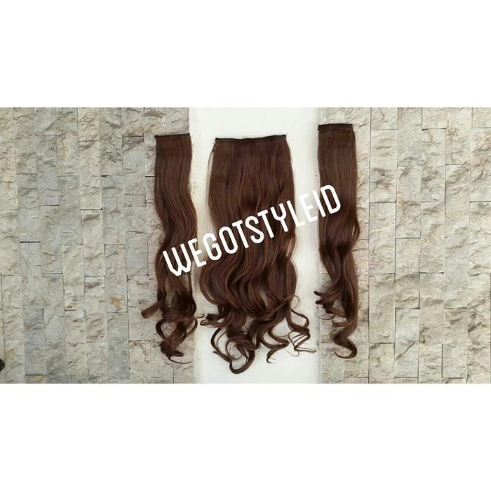 Hair Extension Perpanjangan Rambut 1 Untai 40 cm straight lurus 613. Source · Hairclip 3