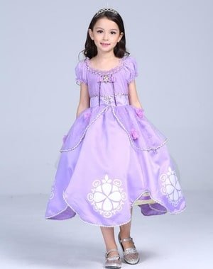 Baju Anak Dress Kostum Princess Sofia Ungu - Blanja.com