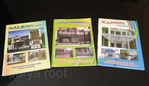 Jual Buku Album Pagar Teralis Pintu Canopy Balkon Railling Tangga