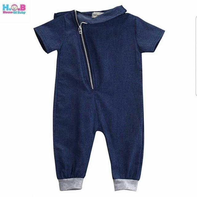 Baju Anak Laki-laki Denim Jumpsuit