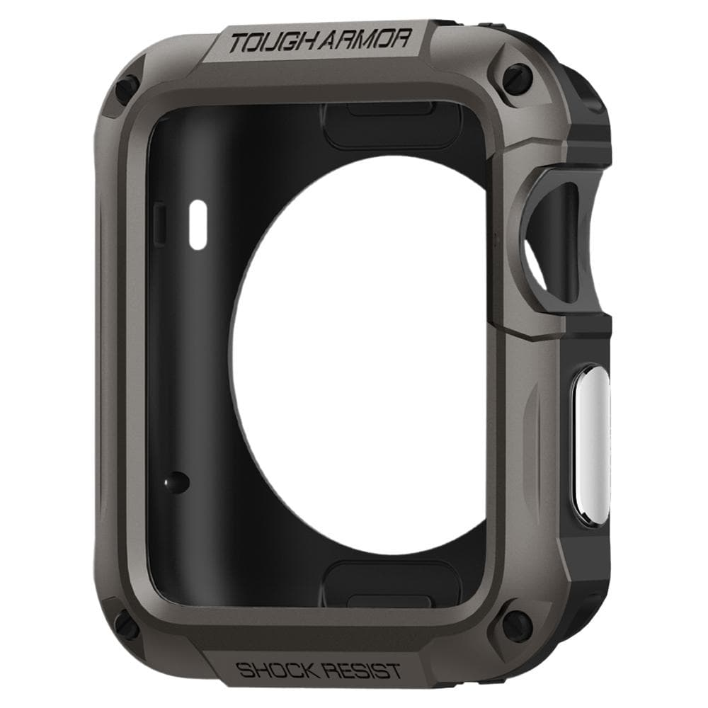 Spigen Apple Watch 42mm V.1 V.2  V.3 Case Tough Armor - Gunmetal