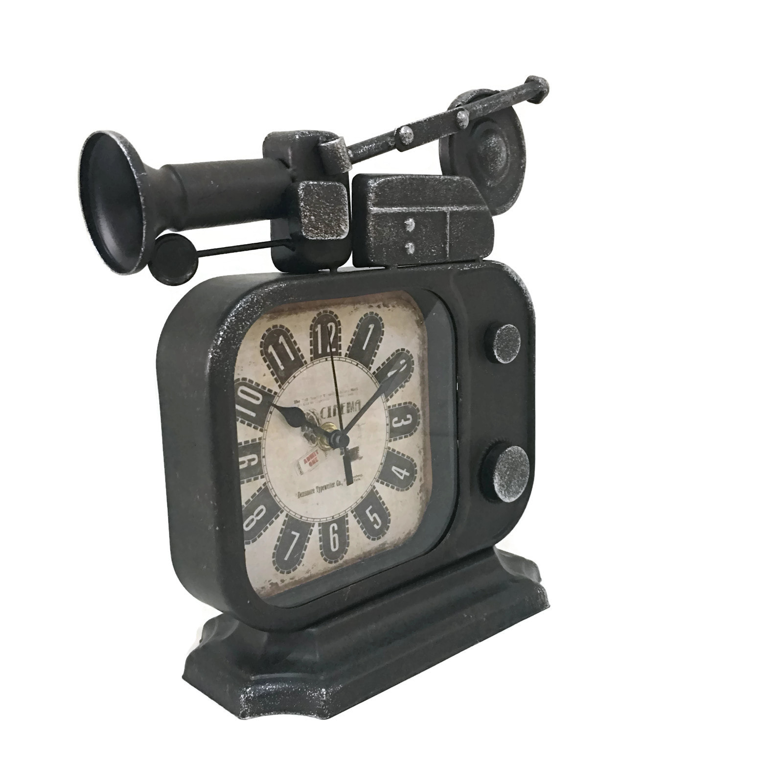 Jual Vintage Retro Old Tv Radio Shape Iron Metal Table Clock 064 Celana Renang Pria