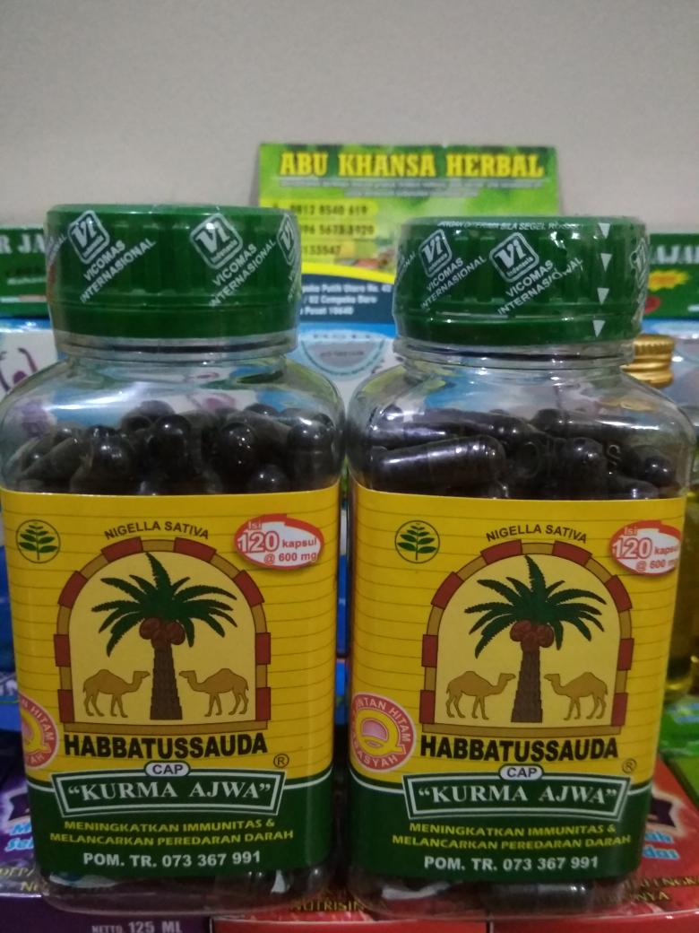 Jual Habbatussauda Cap Kurma Ajwa Isi 120 Kapsul Abu Khansa Herbal Tokopedia