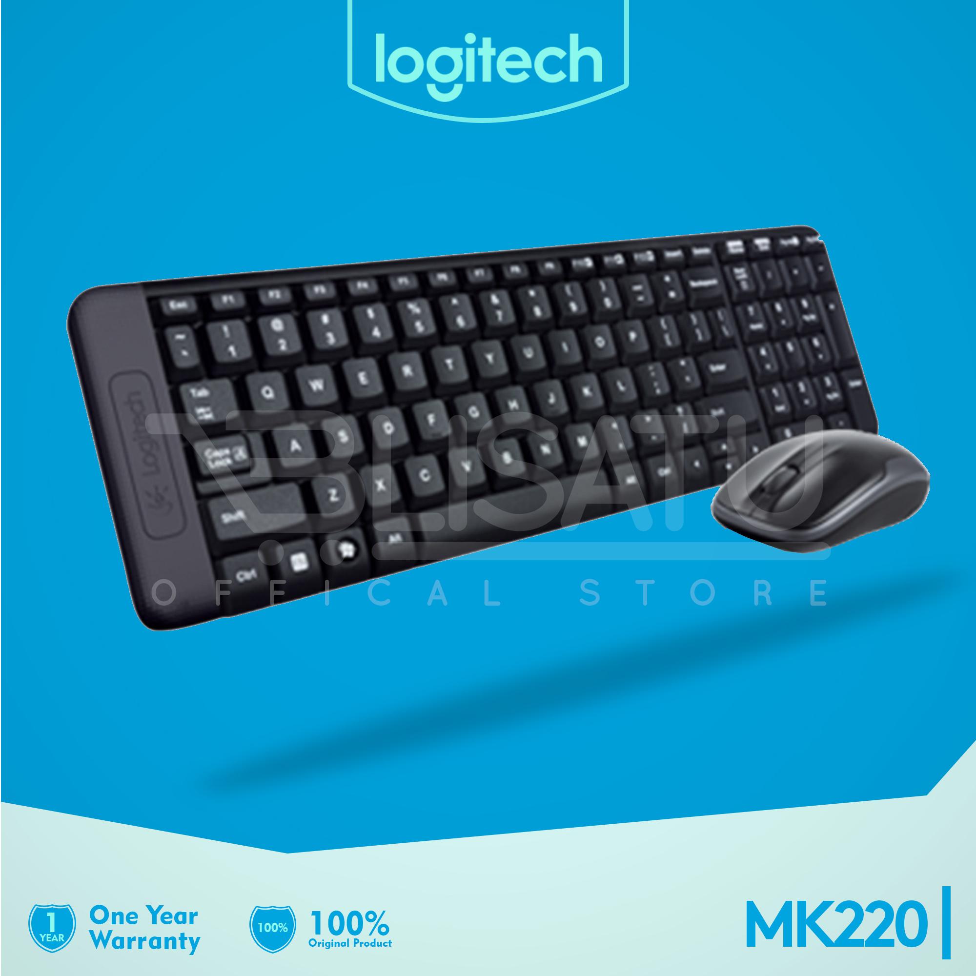 Jual Logitech Wireless Combo Mk220 Keyboard Mouse Original