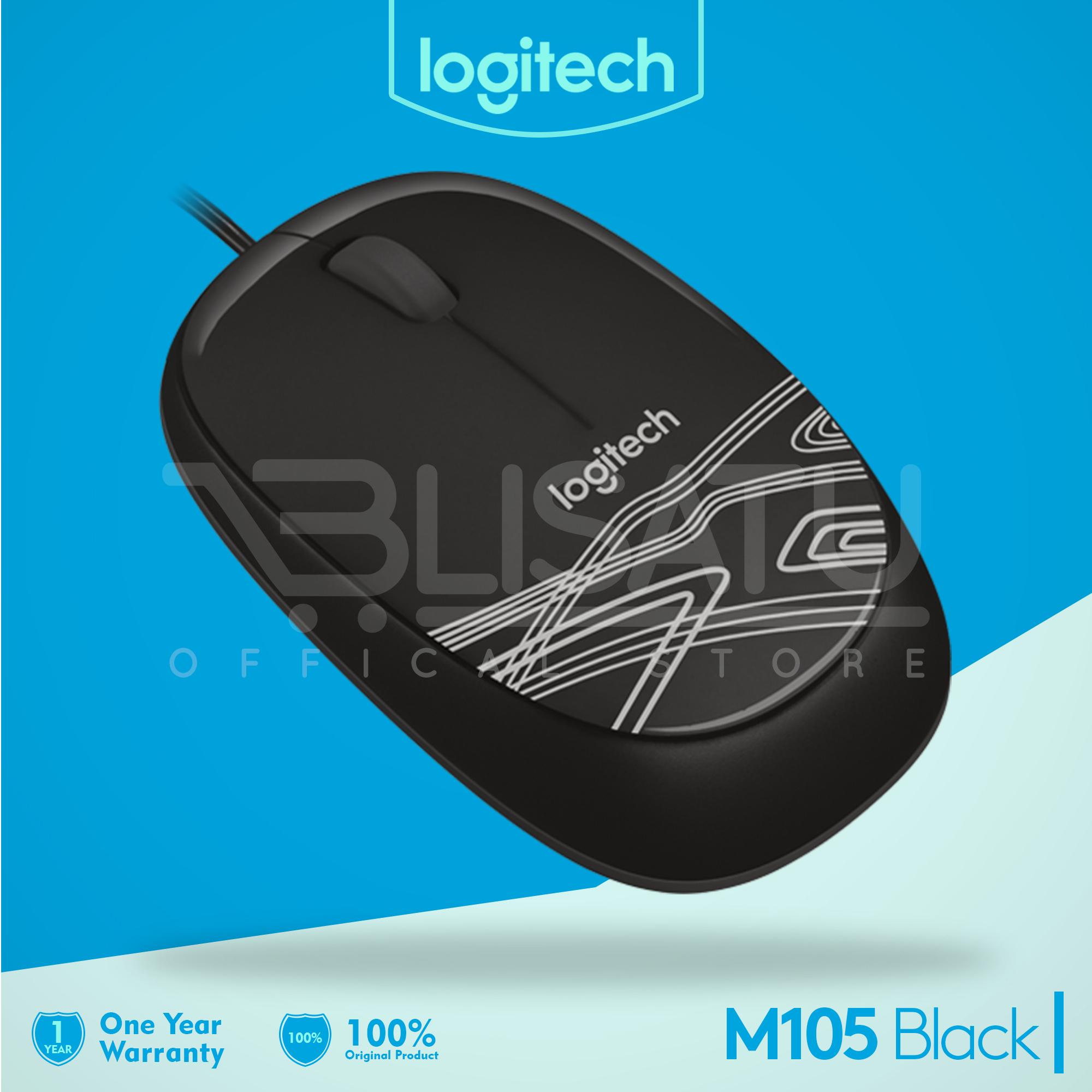 Jual Logitech Wired Optical Mouse Usb M105 Hitam Original Garansi Resmi 2 Tahun Gaming G102 Prodigy