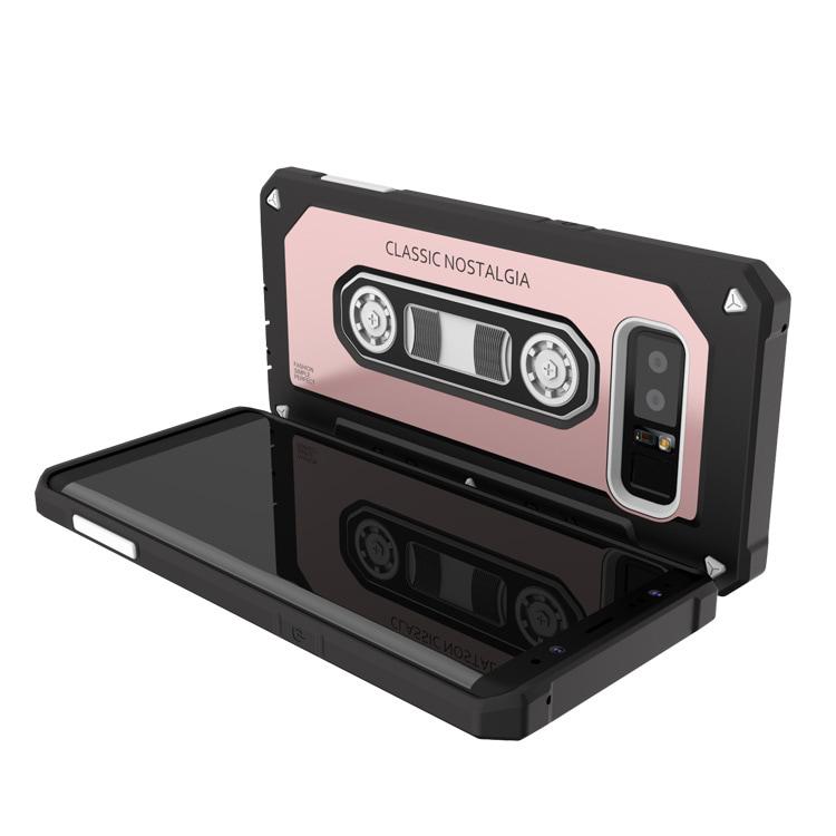 Samsung Note 8 Classic Retro Cassette Full Protective Armor Case