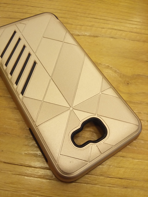 Samsung Galaxy J7 Prime Shark Stripe Elegant Dual Layer Armor Case