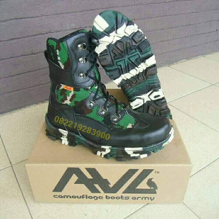 Sepatu PDL TNI Loreng NKRI merk AWL tipe LBA-02