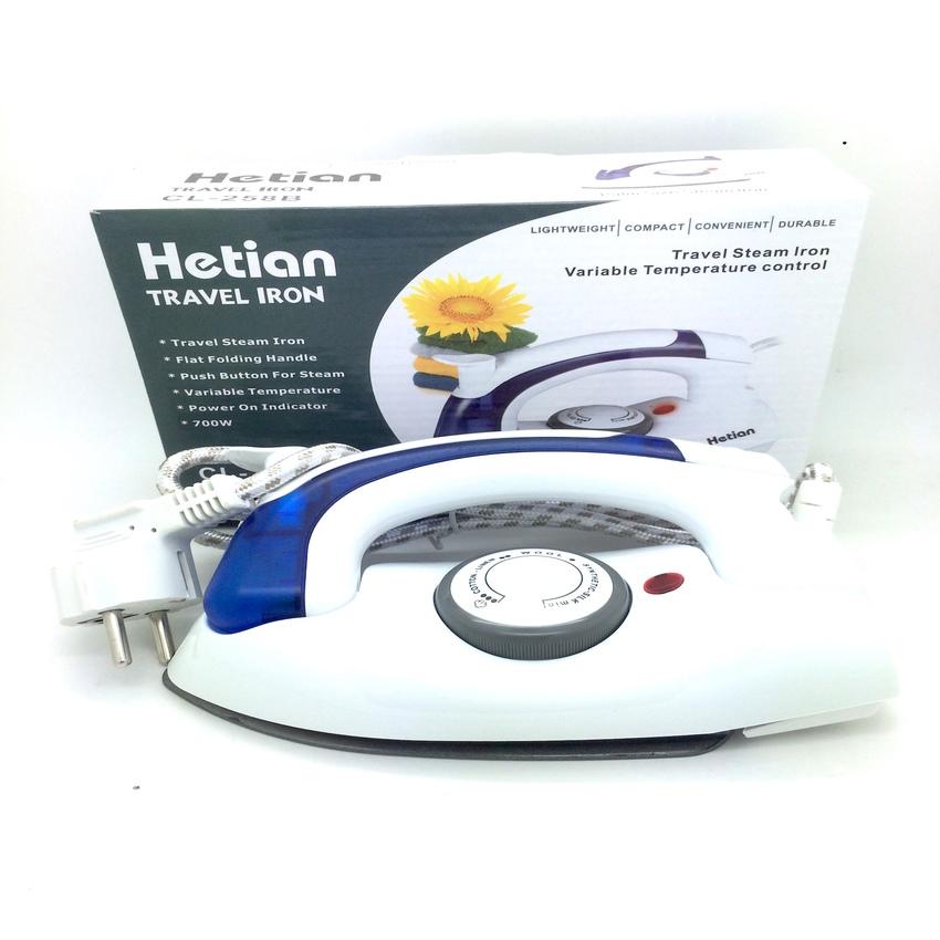 Jual Setrika Uap Lipat Portable Hetian / Soarin 2in1 Travel Iron Steamer - Kiosk Kosmetik  
