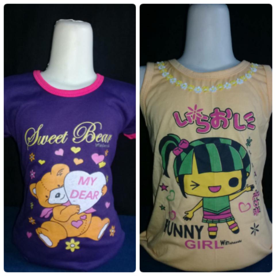 Jual Baju Anak Gambar Kartun LUCU HS Shoppe Tokopedia