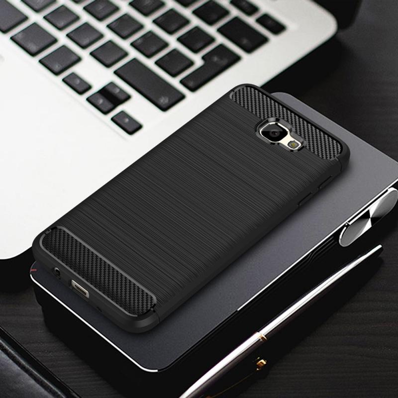 Samsung Galaxy A3 2017 TPU Thin Softgel Case w Carbon Brush Texture