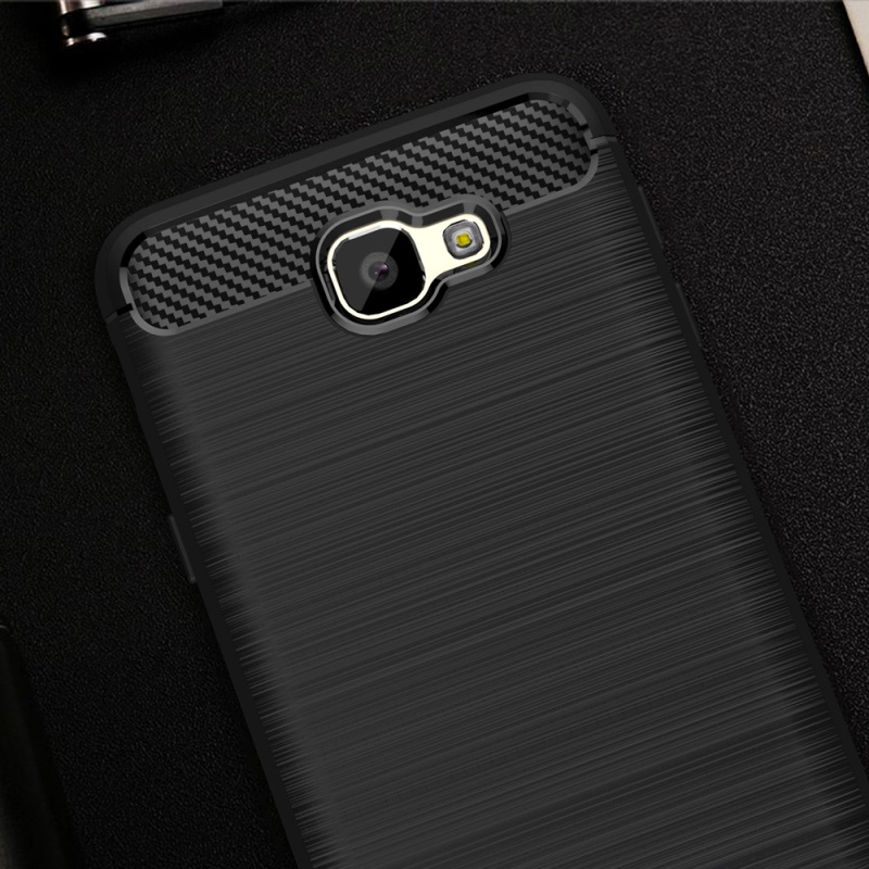 Samsung Galaxy J2 Prime TPU Thin Softgel Case w Carbon Brush Texture