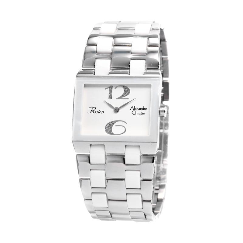 Jual Jam Alexandre Christie Wanita Original AC 2182 Silver White ... 8ca789497b