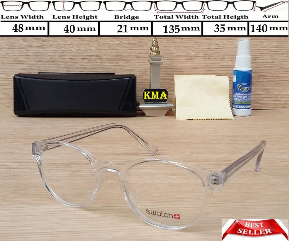 Jual Frame Kacamata Swatch Minus Bulat Korea Transparant Sp Pedagangonlinejujurv6 Tokopedia