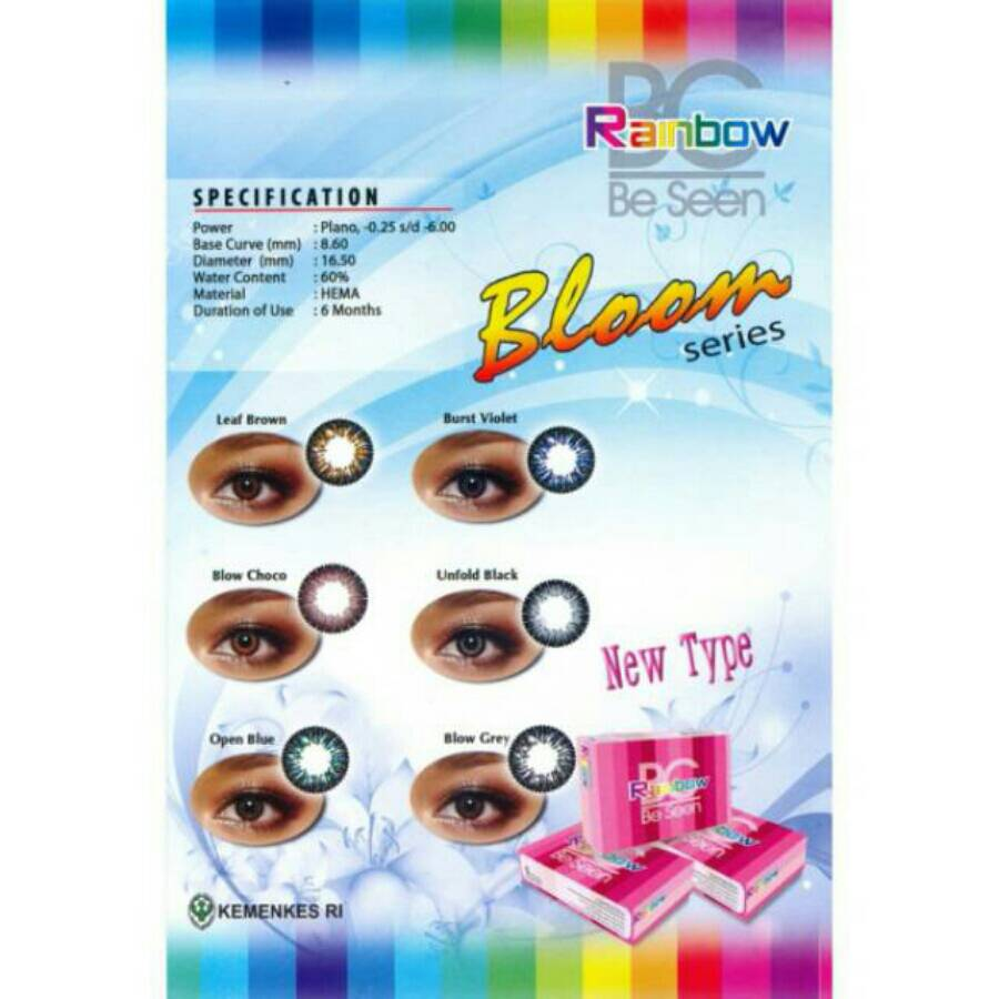 Jual Beli Online Contact Lens Murah Blanjacom Softlens Diva Queen One Layer With Clear Vision Rainbow Big Eyes Diameter 16 5mm Normal Only Free Case