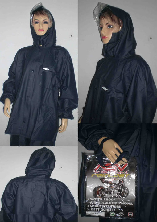 Voucher Ongkir Jas Hujan ASV Size L Raincoat Mantel Waterproof Rubber Full Press di Tokopedia