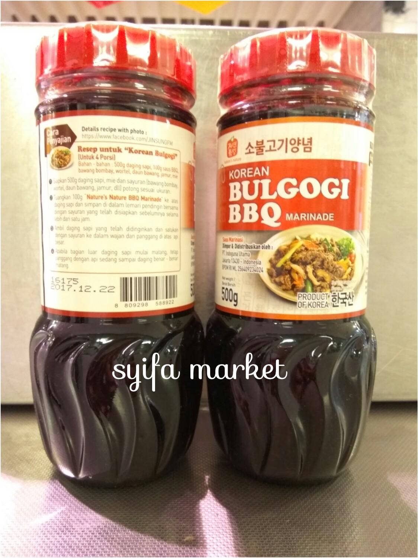 Jual Korean Saus Bulgogi Bbq Marinade 500 Gr Syifa Market Tokopedia Saos Korea