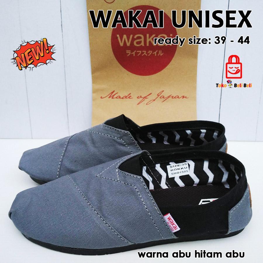 Jual sepatu wakai murah pria wanita unisex - abu hitam abu s Murah ... 3503aabd84