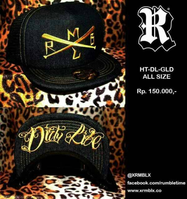 harga TOPI TRUCKER HAT RUMBLE BALI HT DIRTY LIFE GOLD Tokopedia.com