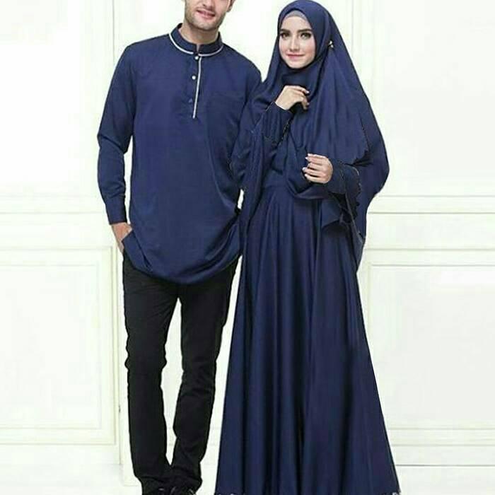 Jual Baju Couple Pasangan Gamis Syari Set Jessica 2 Wrn