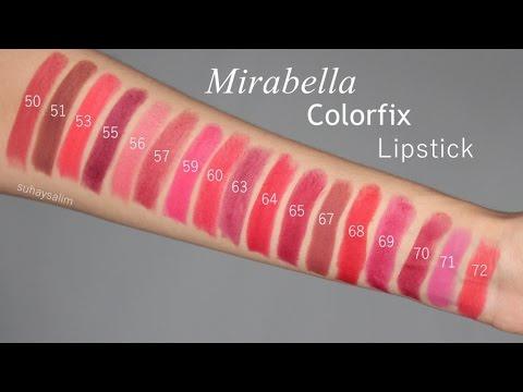 Trending!! Lipstick Matte Mirabella Color Fix / Color Fix Cool - Blanja.com