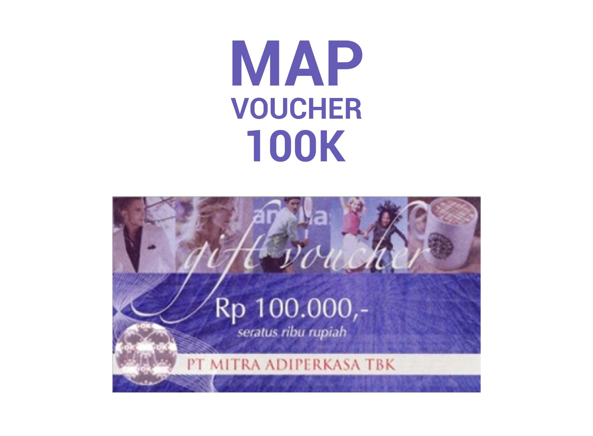 Jual Voucher Map Nominal Rp 100000 Paket 10 Buku 100 Lembar Isi 10lembar Jefhan8 Tokopedia