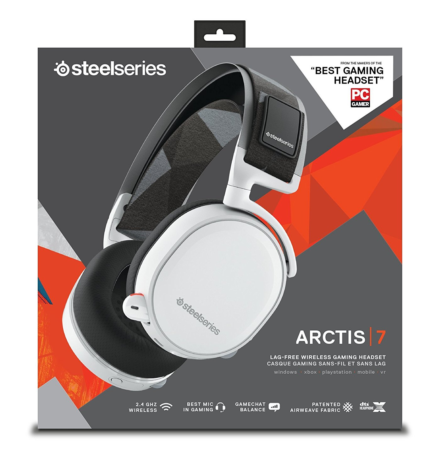 Steelseries Arctis 7 With 71 Dts Headphonex White Wireless Vivan Power Oval 2a Output Single Usb Charger Box Content Product Information Guide Transmitter Mobile Console Cable Micro Charging